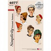 4677 Simplicity Pattern: Misses' Vintage Hats in Various Styles
